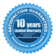 Sunshield 10 years warranty